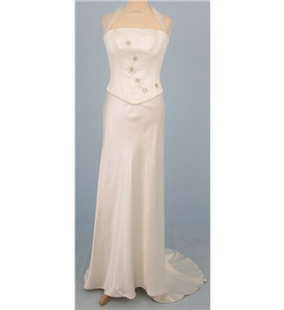Kate Sherford size UK 12  ivory cream two piece wedding dress