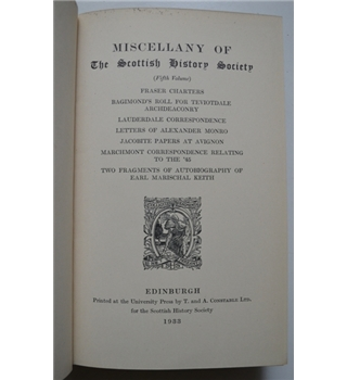 Miscellany of the Scottish History Society - 5th Volume