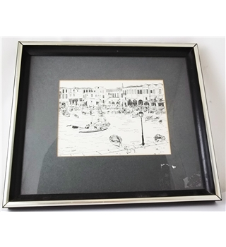 Isabelle - Small - Framed Print of the Rethymno Harbour