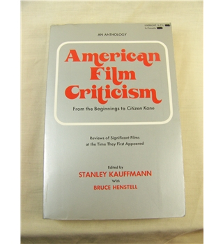 American Film Criticism: From the Beginnings to Citizen Kane
