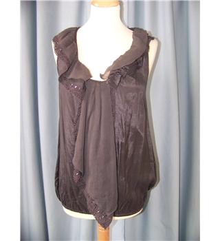 River Island - Size: 8 - Brown - Sleeveless top