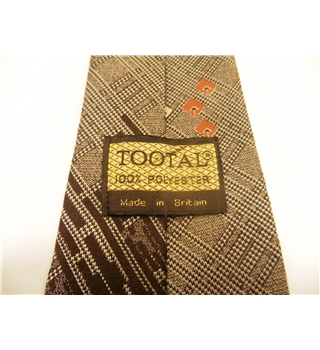 Tootal Designer Tie Shades Of Brown With Geometric Pattern