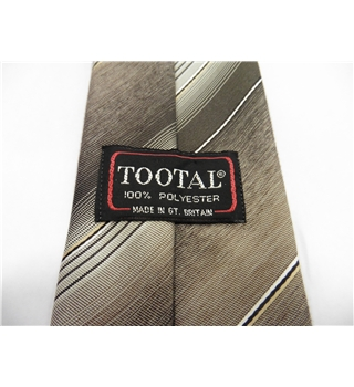 Tootal Designer Tie Shades Of Brown & Grey Stripes