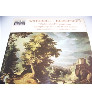 Schubert symphonies nos 5 & 8 philharmonia orchestra - 33cx 1870