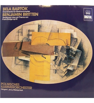 Bartok - Divertimento, Britten Variations on a Theme of Frank Bridge. Polnisches Kammerorchester, Jerzy Maksymiuk - MD+G G 1180