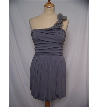 Warehouse - Size: 8 - Grey - Mini dress