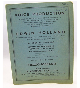 Voice Production by Edwin Holland.
