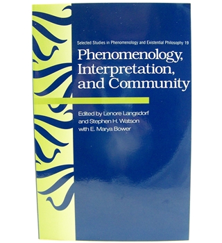 Phenomenology, Interpretation and Community