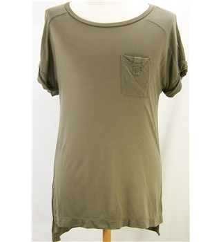 Great Plains - as new, Size: S - Brown / dark neutral - Cap sleeved T-shirt