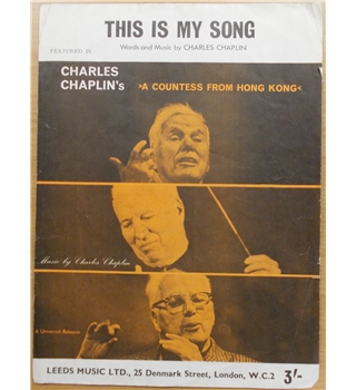 Charles Chaplin - This is my song sheet music
