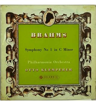 Brahms: Symphony No 1 Philharmonia Orchestra conducted by Otto Klemperer - 33CX 1504