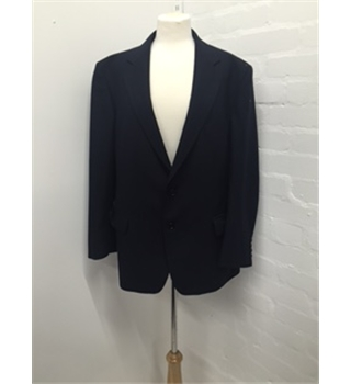 Man's Navy Blue Suit Magee - Size: L - Blue - Double breasted suit