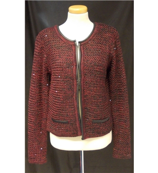 La Redoute size:10-12 red/black cardigan
