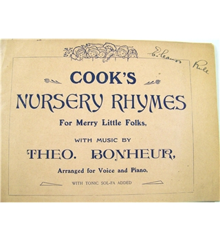 Cook's Nursery Rhymes for Merry Little Folks.