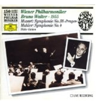 "MOZART Symphony No. 38 ""Prague"" / MAHLER Symphony No. 4 - Walter Bruno and Hilde Güden"
