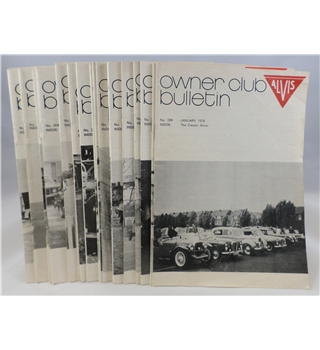 Alvis Owner Club Bulletin 22 Issues 1978 / 1979