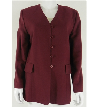Vivienne Lawrence Size 12 Burnt Red Wool Blazer