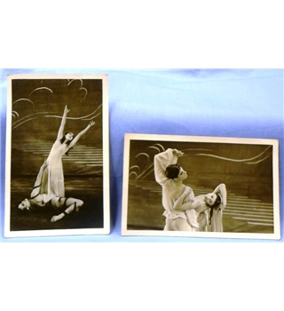 Vintage Ballet Collection from the 1940s: 2 postcards