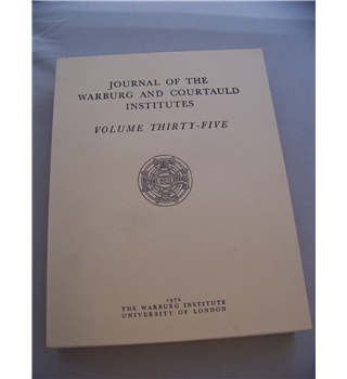 Journal of the Warburg and Courtauld Institutes: Volume 35