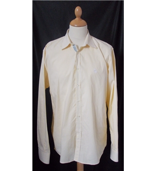 "El Ganso size:44"" chest yellow/white long sleeved shirt"
