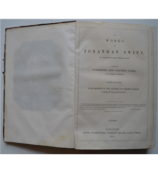The Works of Jonathan Swift - Two Volumes (1841)