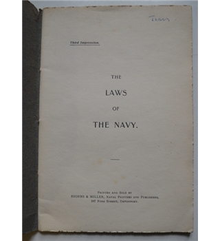 The Laws of the Navy - 1898
