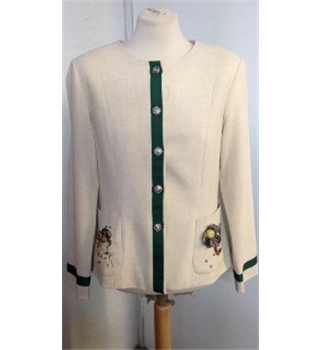 Bridal Bazaar beige and green jacket size: 12/14 REDUCED!!!