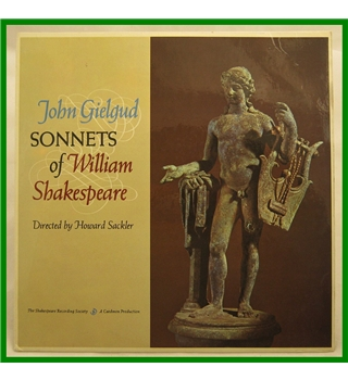 Sonnets of William Shakespeare Sir John Gielgud - SRS-M241 A-B