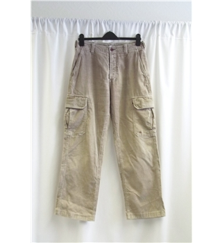 Unbranded - Size S - Beige - Cord - Trousers