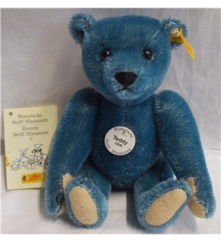 Steiff Teddybear Blue Replica Historic Miniature Collectable
