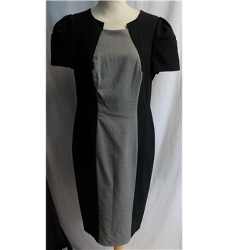 M&S  - Size: 12 - Black with contrast - short sleeve dress