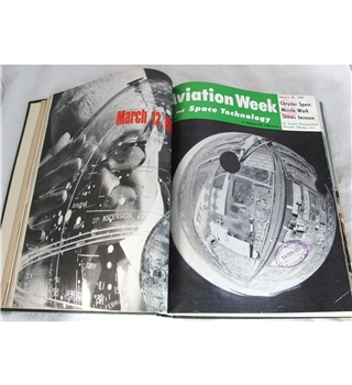 Aviation Week & Space Technology 1962 bound magazine volume