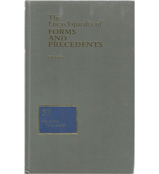 The Encyclopaedia of Forms and Precedents: 37 Sale of Land
