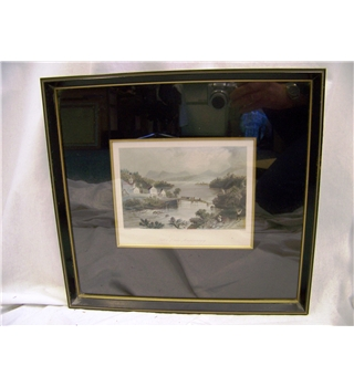 W H Bartlett - Size Medium -  Lake Memphremagog, Quebec, Canada. - 19th Century Print