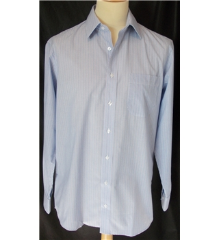 NWOT M&S - Size: 16 collar - Blue striped - Long sleeved shirt