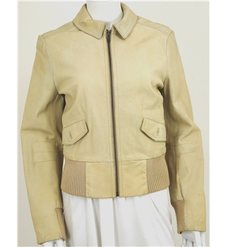 No Anoa Size M Cream Leather jacket