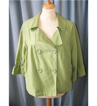 M&S Marks & Spencer - Size: 14 - Green - Smart jacket / coat