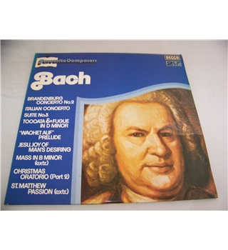 favourite composers bach various musicians and orchestras (double LP) - dpa 535 / 6