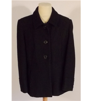 KLass Petite Dark Blue Wool Jacket Size 16