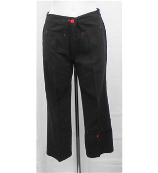 Id' Est Black Cropped Trousers Size 10