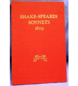 1984 Edition. Shake-speares Sonnets 1609