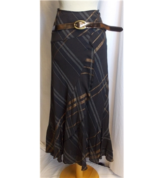 NWOT Per Una size: 14r dark plum mix long skirt and belt