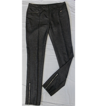 Next size 14 black/white trousers