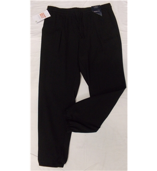 NWOT M&S Collection size 12 (short) petite black trousers