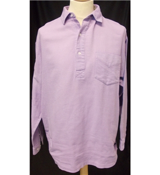 Cotton Traders - Size: M - Lilac - Long sleeved polo shirt