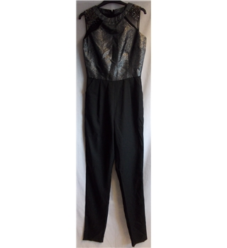 BNWT Little Mistress - Size: 8 - Black and silver - Jumpsuit