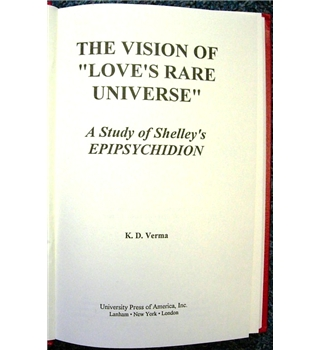 "The Vision of ""Love's Rare Universe"""