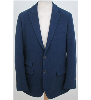 Nigel Hall size 44R dark blue textured smart jacket