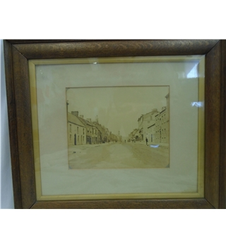 Victorian Street Photograph in Original Frame