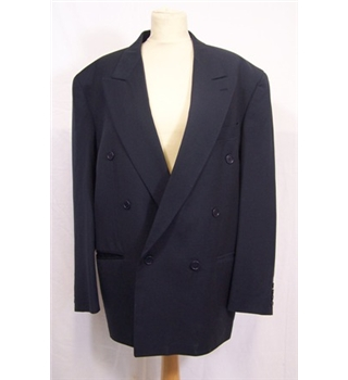 Progetti Size L Blue Double breasted blazer